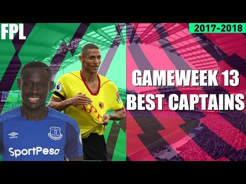 THE BEST CAPTAIN OPTIONS AHEAD OF GAMEWEEK 13! FANTASY PREMIER LEAGUE 2017/18! FPL