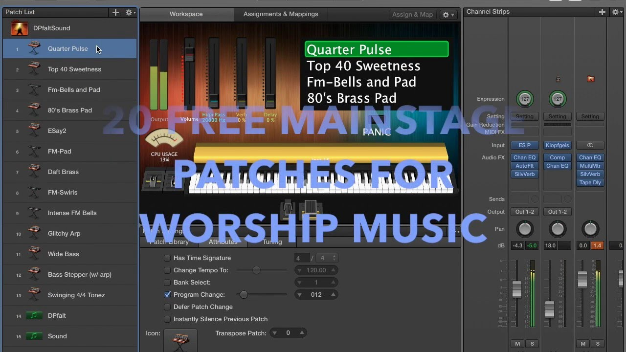 20 Free MainStage/Logic Patches for Worship