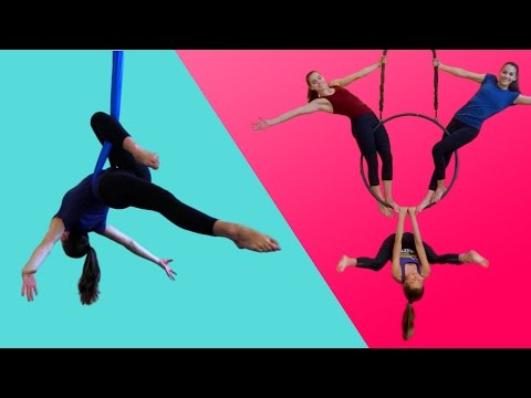 GYMNASTS TRY AERIAL CIRCUS FOR THE FIRST TIME