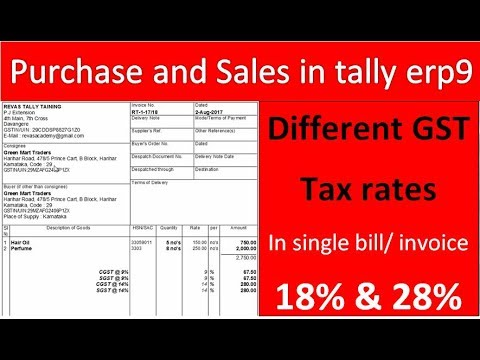 MULTI TAX Rate under GST IN Tally.ERP9 ( Sales and purchase)