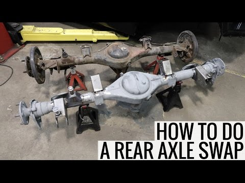 How To Do A Rear Axle Swap - RA24 Toyota Celica Project - YouTube