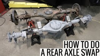 How To Do A Rear Axle Swap - RA24 Toyota Celica Project