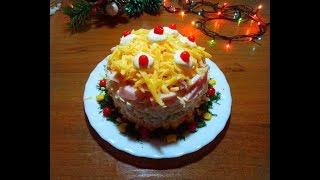 Праздничный салат с кукурузой и мясом.Праздничный стол.Романтический ужин.14 февраля.8 марта