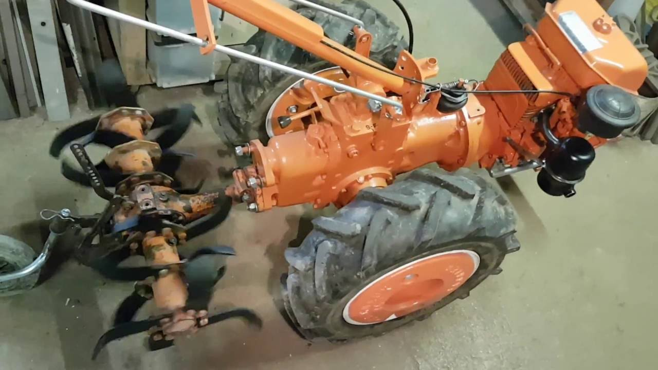 restauration rotavator de motoculteur pasquali 921