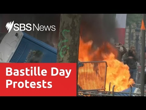 Yellow Vest: French police fire tear gas as protests follow Bastille Day parade