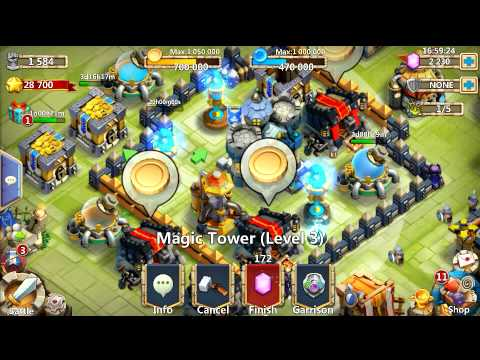 Castle Clash Upgrading Level 3 Magic Tower!