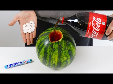 MENTOS VS COCA COLA WATERMELON