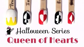 Queen of Hearts Deck of Cards Nails