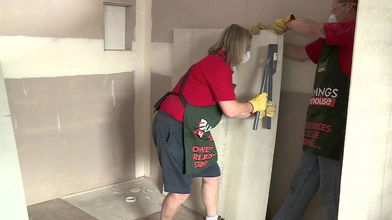 Tiling Bathroom Underlay how to install tile underlay - diy at bunnings - youtube
