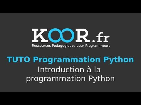 TUTO Python : Introduction à la programmation Python