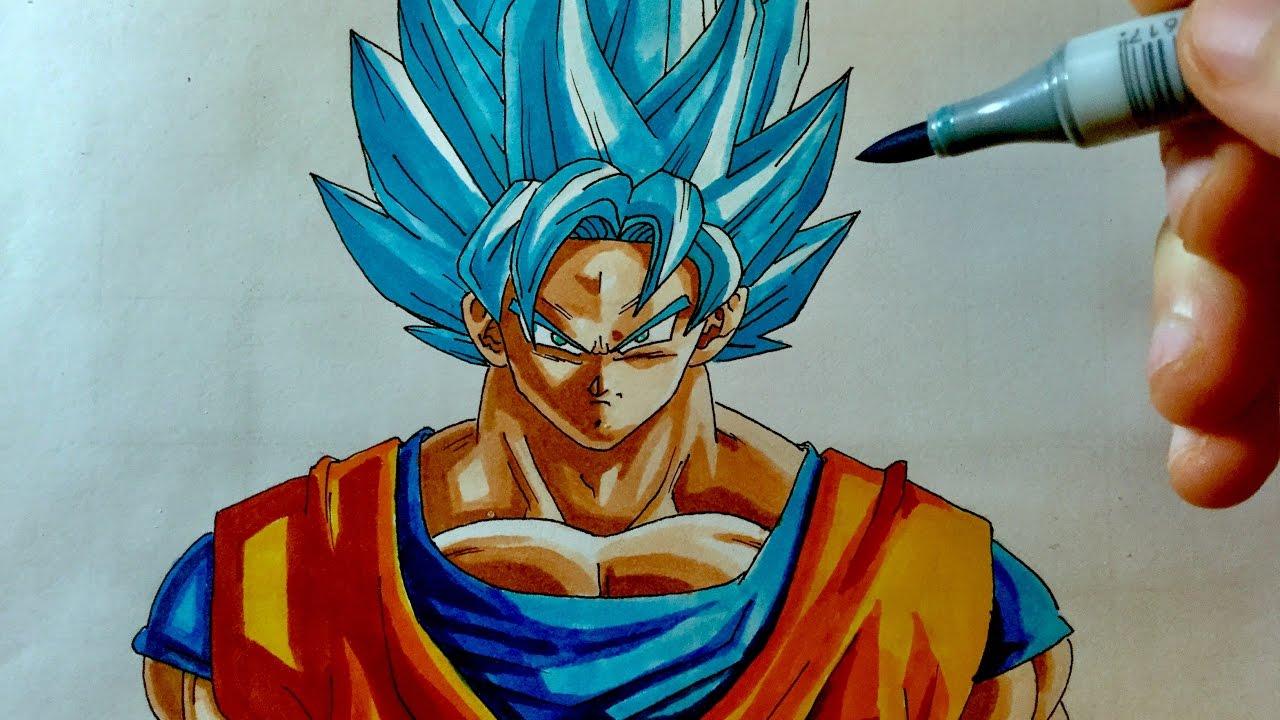 Comment Dessiner Goku Ssjb Tuto Pour Debutant Youtube