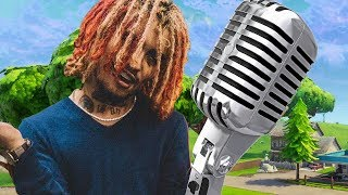 LIL PUMP VOICE TROLLING w/ AUTO-TUNE ON FORTNITE BATTLE ROYALE *HILARIOUS REACTIONS*