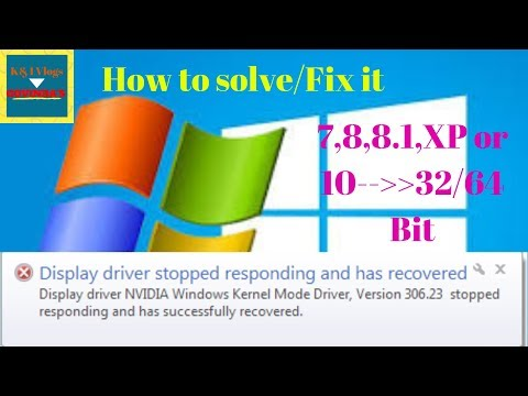 How To Fix Display Driver Stopped Responding And Has Recovered Windows 7,8,8.1,10// 32-64 Bit 2019.