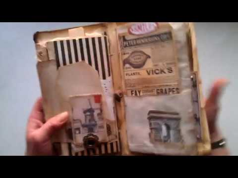 """Like a Midori """"Grunge Paris"""" vintage junk journal -recycling unwanted mail"""