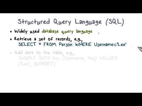 Structured Query Language (SQL) - YouTube