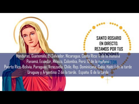 Santo Rosario en directo 24 mayo 2019. Fiesta de María Auxiliadora. (Red Mundial del Santo Rosario)