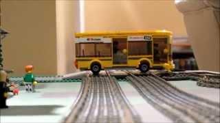 Lego Big Bang Bus Crash with Train