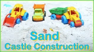 Sandy Toys Construction! - Summer Beach Fun #2: Kids Educational (песок строительные машины)(Sand Machine Beach Construction! Come to the Seaside! Educational cartoon video for children with monster Toy Trucks which build a big sand castle!, 2014-09-21T12:48:28.000Z)