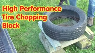 High Performance Tire Firewood Chopping Block- Easy Splitting