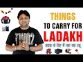 Things to carry for Ladakh roadtrip