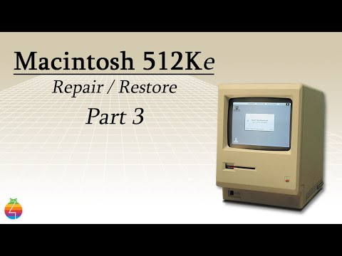 Macintosh 512KE Restoration Overview & Flyback Transformer Replacement