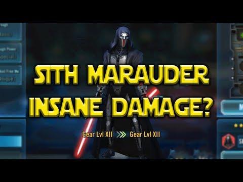 Sith Marauder Kit Reveal - Insane Damage?   Star Wars: Galaxy Of Heroes - SWGOH