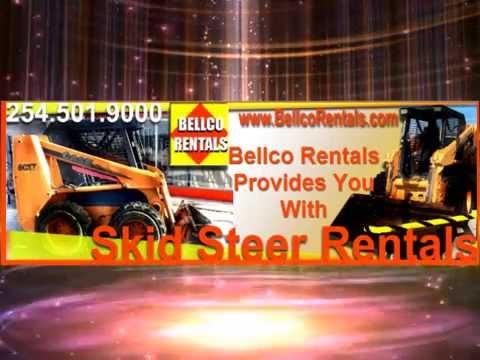 Skid Steer Rentals In Killeen Texas @ Bellco Rentals