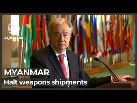 UN stops short of calling for global arms embargo against Myanmar