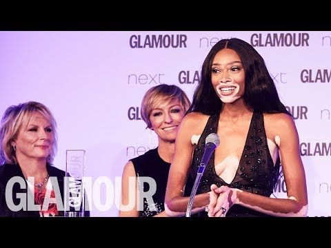 Winnie Harlow: Life Hasn't Always Been About My Skin | Women of the Year Awards 2017 | Glamour UK
