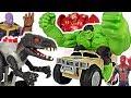 Marvel Avengers RC Hulk Smash vehicle! Defeat Thanos, Jurassic World walking Indoraptor! #DuDuPopTOY