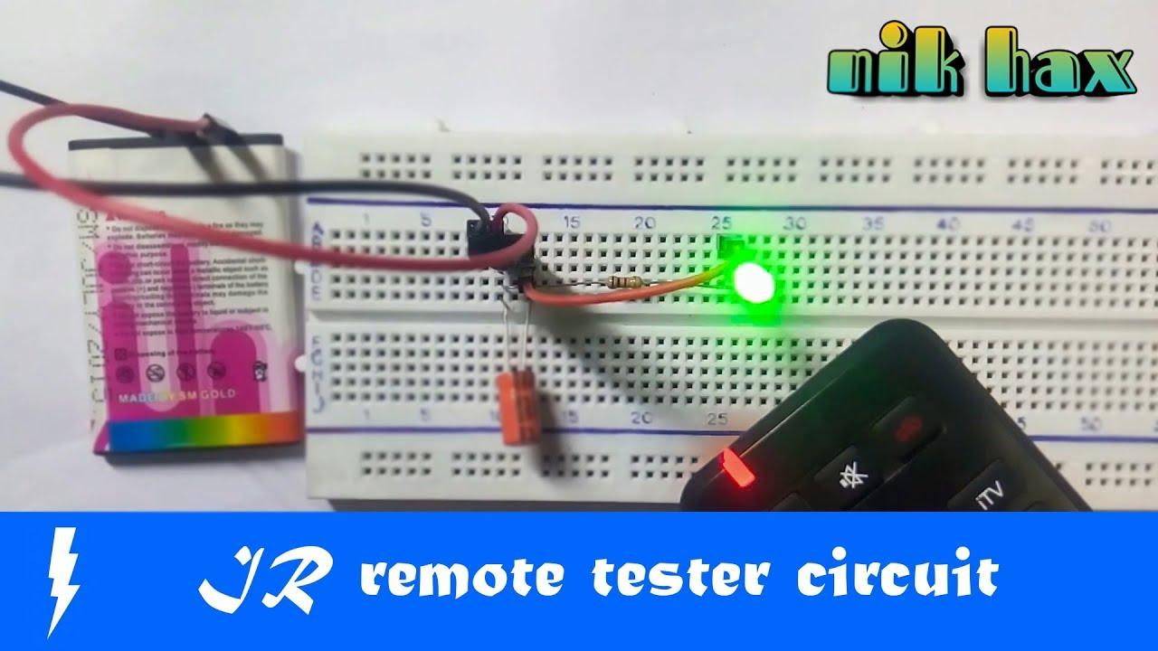 Infraredir Remote Tester Ir Receiver Circuit Using Tsop1738 On Infrared Breadboard