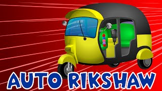Auto Rickshaw | Tuk Tuk | Cars Cartoon | Construction Vehicles | Cranes