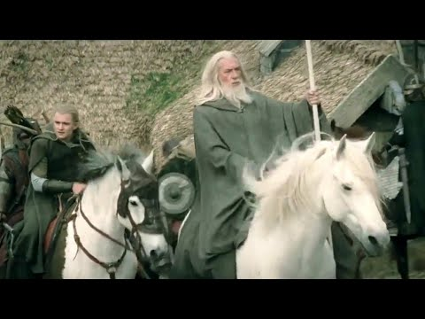 Gandalf Arrives At Edoras - The Lord of the Rings (HD)