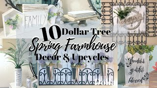 10 DIY DOLLAR TREE SPRING FARMHOUSE HOME DECOR AND UPCYCLES