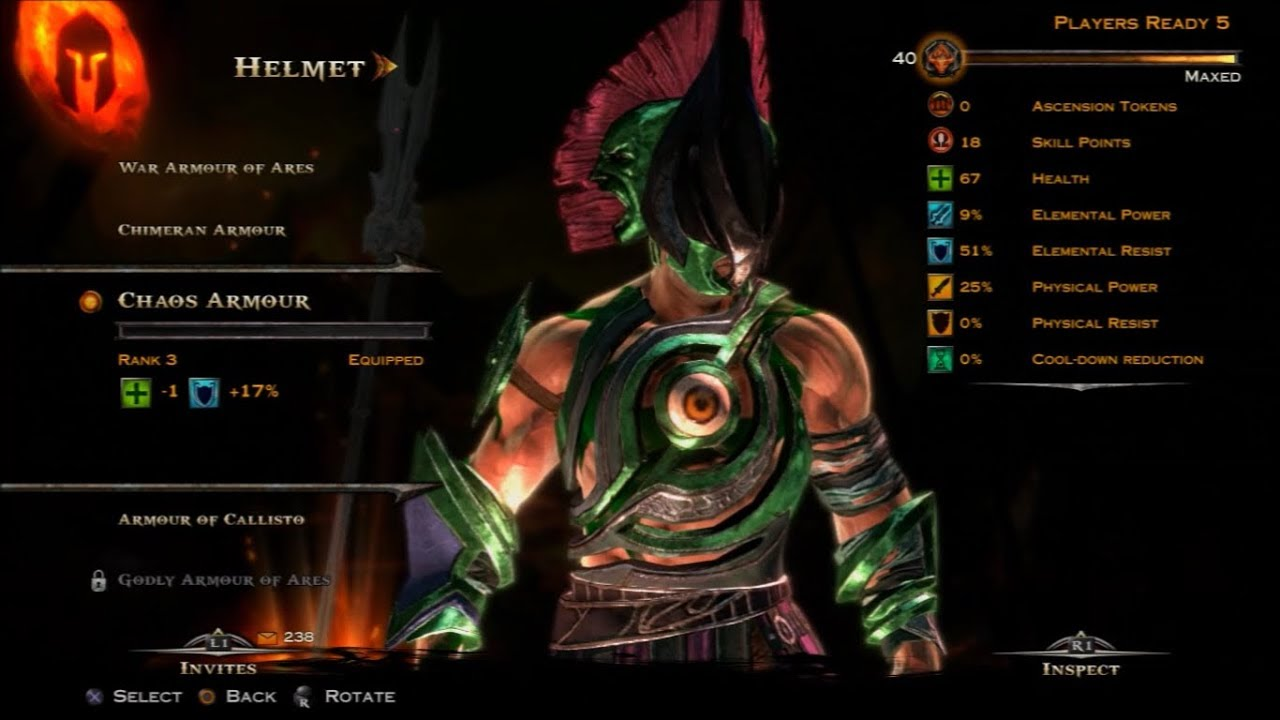 ARES / SPEAR OF ARES / CHAOS ARMOR / GOD OF WAR ASCENSION ...