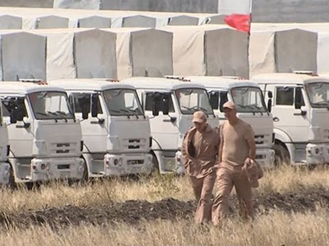 Raw: Russian Aid Convoy Crosses Into Ukraine