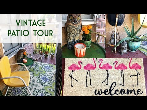 Vintage Patio Tour + My Herb Garden | Emily Vallely
