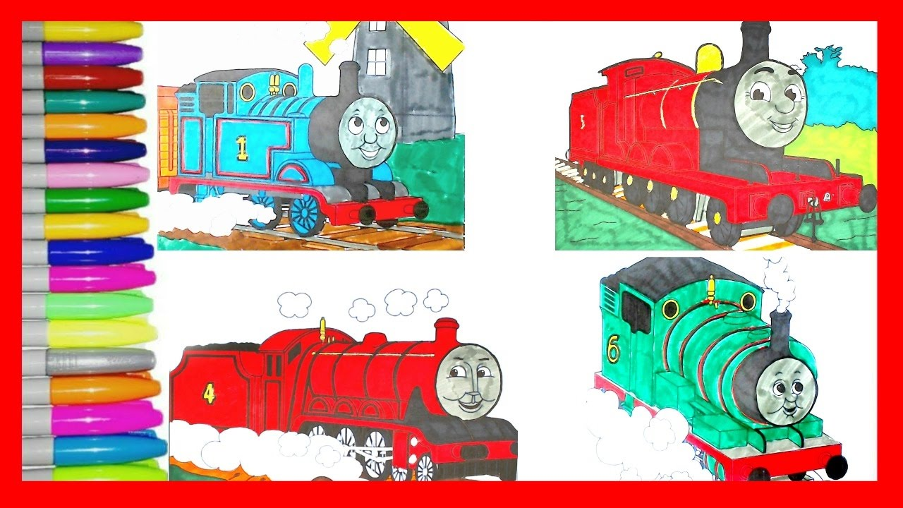 learn colors with thomas and friends coloring page thomas james