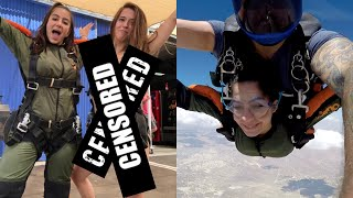 SHE WENT SKYDIVING WITH NO CLOTHES ON