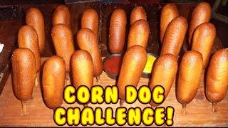 20 Corn Dog Food Eating Challenge - Magic Mitch