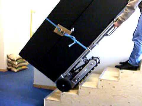 stairrobot express sr175 elektrischer treppensteiger youtube. Black Bedroom Furniture Sets. Home Design Ideas