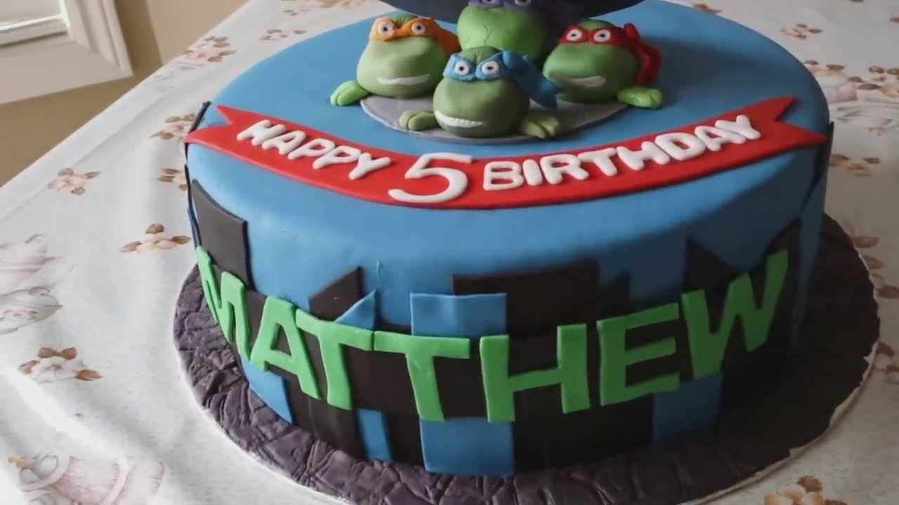 TMNT Teenage Mutant Ninja Turltes Cake YouTube