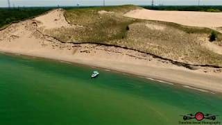 Indiana Dunes Mount Baldy National Park 4th of July Shoreline Tour 4K Drone Footage