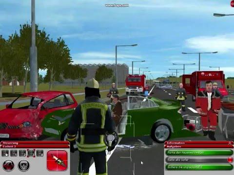 Feuerwehr Simulator 2010 - Autounfall AutoBahn Gameplay ( FS2010 ...
