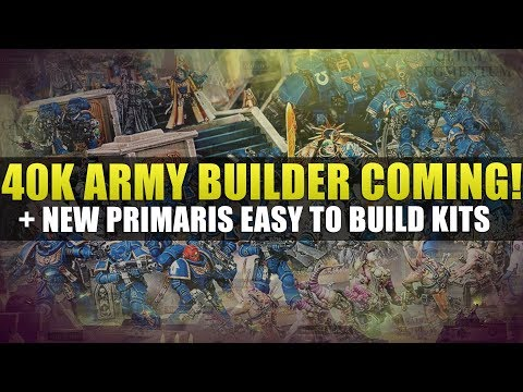 40k Army builder coming + Christmas Battleforce Boxsets