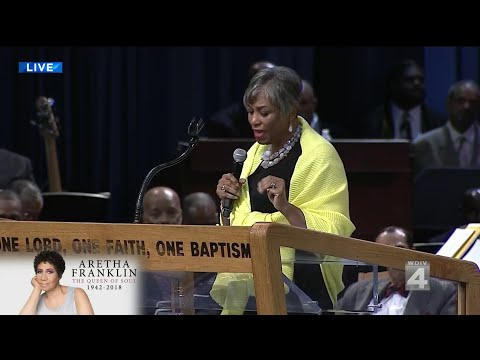 Rep. Brenda Lawrence speaks at Aretha Franklin's funeral