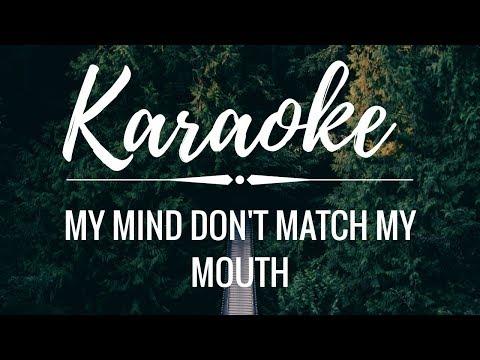 My Mind Don't Match My Mouth (KARAOKE) || Tate McRae Lyrics