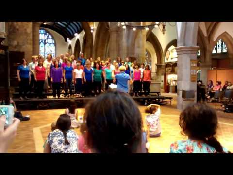 Blue Mountain River. Lyrics by Cara Dillon. Performed by Singing it Back Evening Choir