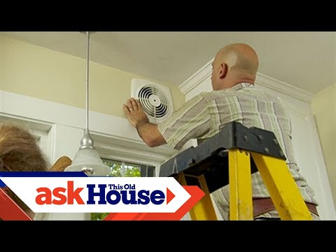 How To Install A Through The Wall Exhaust Fan Youtube