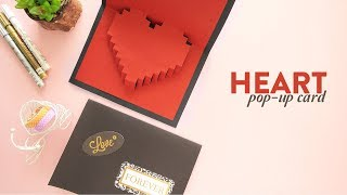 Heart Pop-up Card |  Valentines Day Card |  Card Making